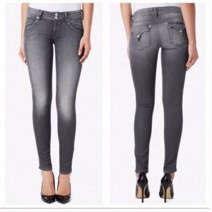 Hudson Collin Skinny Grey Jeans Size 28